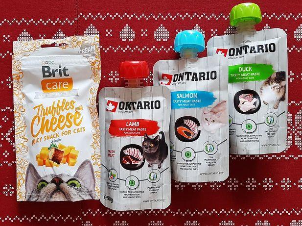 Smakołyki Przysmak Przekąska dla kota - Pasta chrupki - Ontario Brit