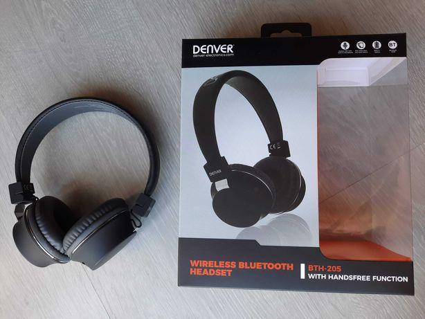 Auscultadores Headset Bluetooth sem Fios Denver (Novo)