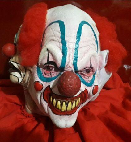Máscara palhaço assassino  4 caras-Halloween - Carnaval