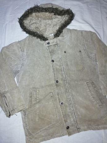 Теплое вельветовое пальто Adams куртка осень зима мальчику 8лет