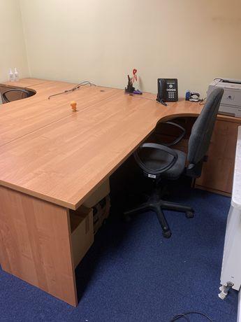Dwa duże biurka + 2x szafka