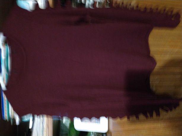 Sweterek damski bordowy