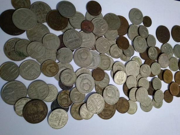 Монеты СССР(106шт.)1,3,5,10,15,20копеек