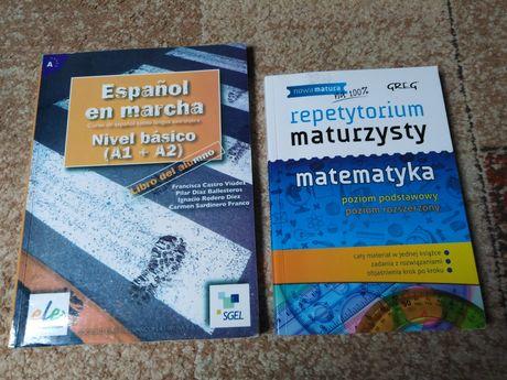 Podręcznik z hiszpańskiego i repetytorium z matematyki
