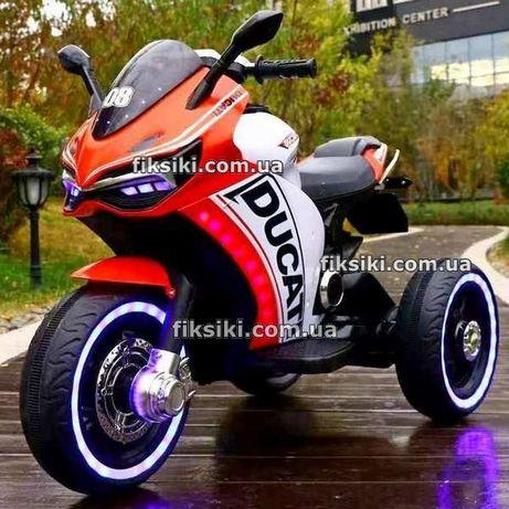 Детский мотоцикл электромобиль 4053 RED Ducati, Дитячий електромобiл