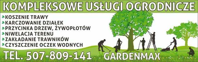 Kompleksowe uslugi ogrodnicze... wycinka drzew, karczowanie dzialek,