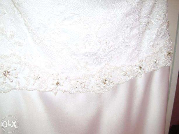 Suknia ślubna + bolerko + welon