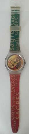 Relógio antigo da Cerveja Sagres
