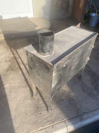 Буржуйка стальная новая обогрев до 35 м2