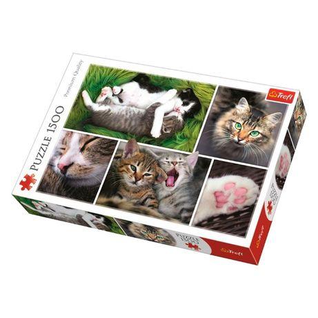Пазл Trefl Трефл коти (26145), 1500 елементів