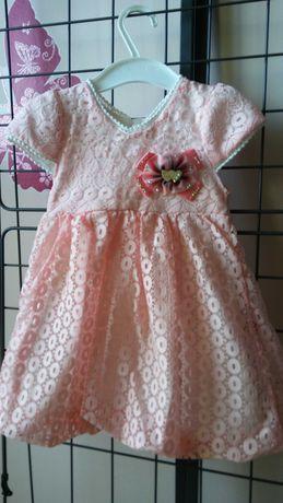 Różowa sukieneczka 80