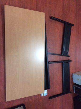Secretaria 140 x 70 x 65 Madeira e Metal