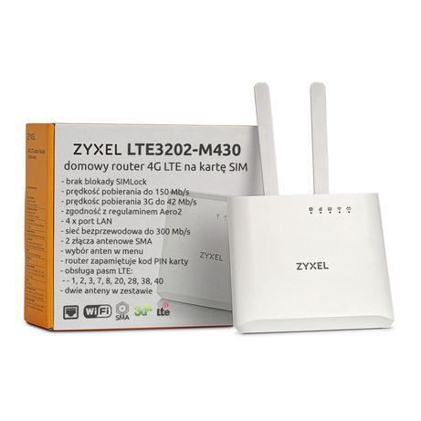 ZyXel LTE3202-M430 2 anteny domowy router na kartę SIM WiFi 3G 4G LTE