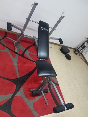 ławeczka regulowana do ćwiczeń ławka pod sztangę z wyciągiem + drążek