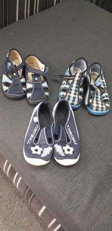 Тряпочные сандали на мальчика