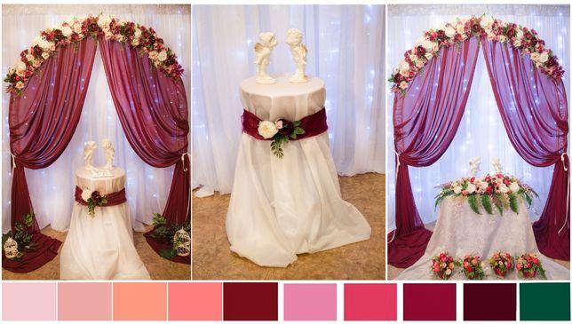 Свадебный декор Бордовый шик аренда