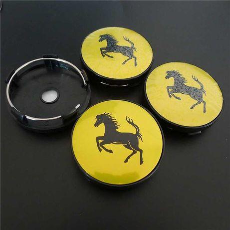 Centros/tampas de jante completos Ferrari com 56, 60, 65 e 68 mm