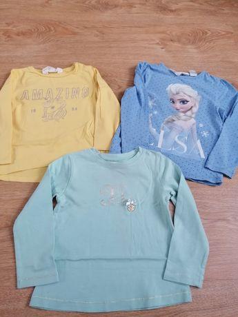 Zestaw bluzeczek dla dziewczynki w rozmiarze 92 firm H&M i Mayoral
