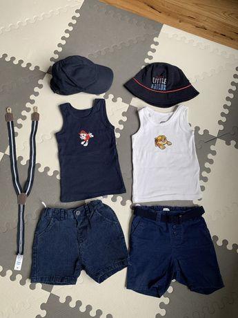 Paka na lato koszulki spodenki czapka kapelusz HM C&A Smyk