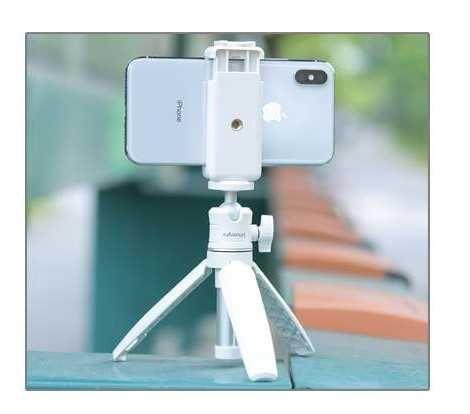 NOVO Tripé selfie stick monopod para telemóvel e máquina fotográfica
