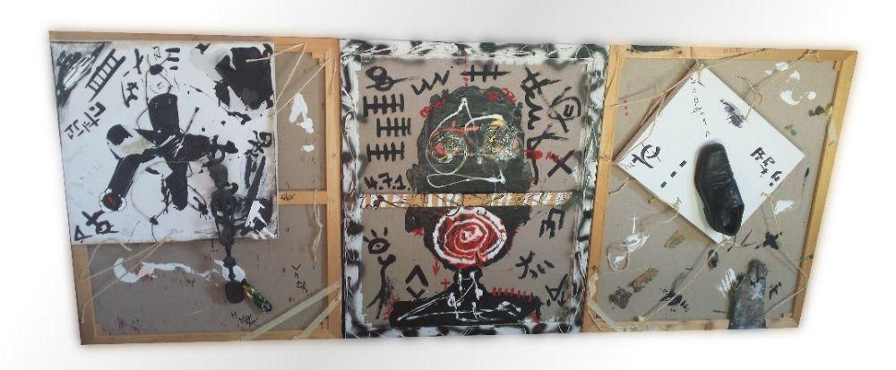Existenz - Pintura expressionista abstracta em 3 telas