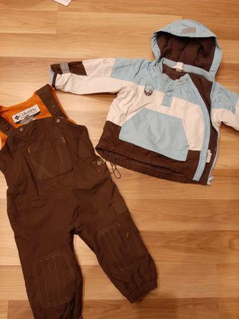 Spodnie narciarskie i kurtka na 2 latka roz. 86