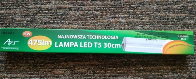Oprawa LED 30cm 5W zintegrowana, możliwość łączenia kilku opraw