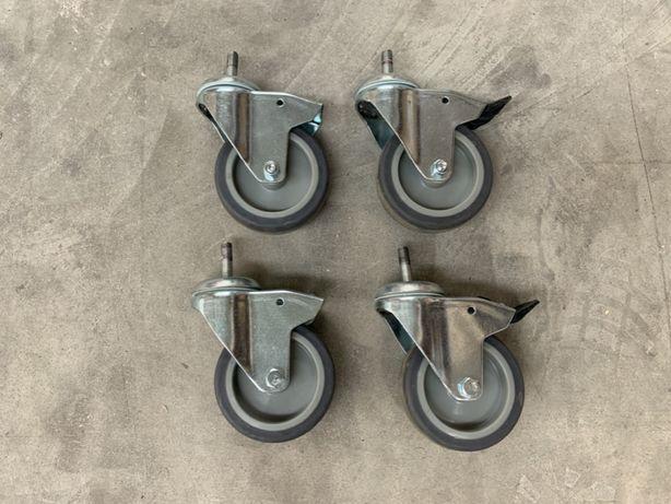 Rodas giratórias 90mm com e sem travão