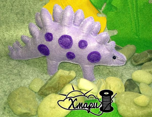 Динозавр игрушка из фетра hand made