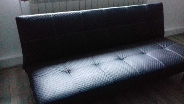 Sofa czarna rozkladana