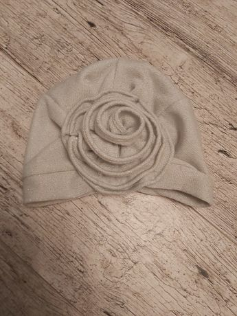 Czapka turban róża szara srebrna River Island 80