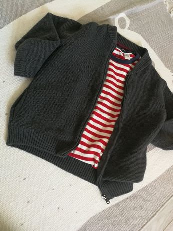 Sweter kardigan zasuwany na suwak Zara r 104