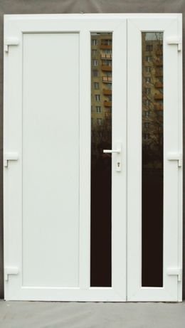 130 x 210 białe DRZWI PCV, Klamka Gratis