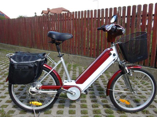Skuter elektryczny rower NOWE baterie koła 22 LED sakwy