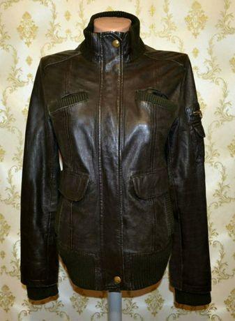 Натуральная кожаная куртка Mango