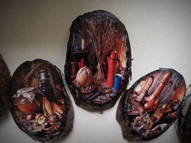 картинка на срезе дерева