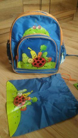 Plecak szkolny + worek na kapcie(NOWE)