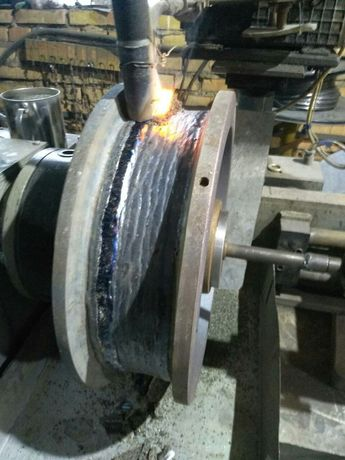 Наплавка кранових колес