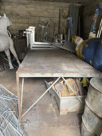 Stół ze stali roboczy
