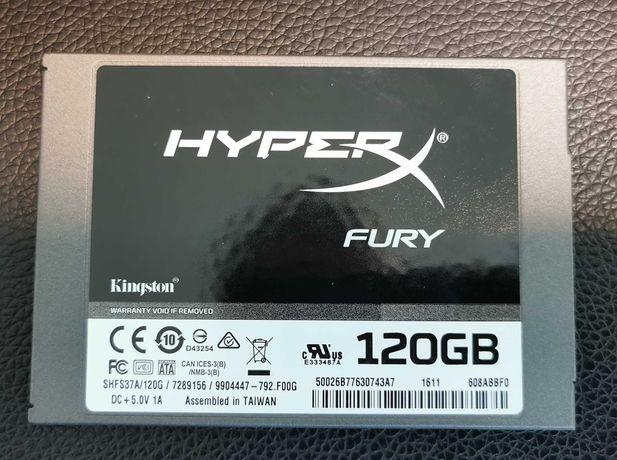"""Disco Kingston 120GB HyperX Fury 2.5"""" SATA III SSD - SHFS37A/120G"""