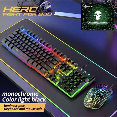 Ігрова RGB клавіатура + мишка + коврик
