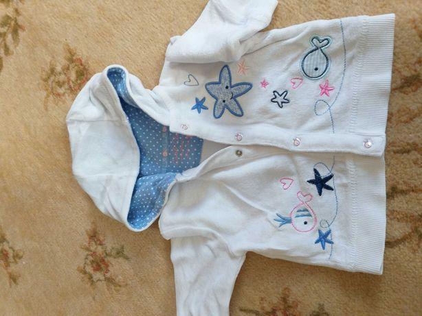 bluza niemowlęca, spodnie 62