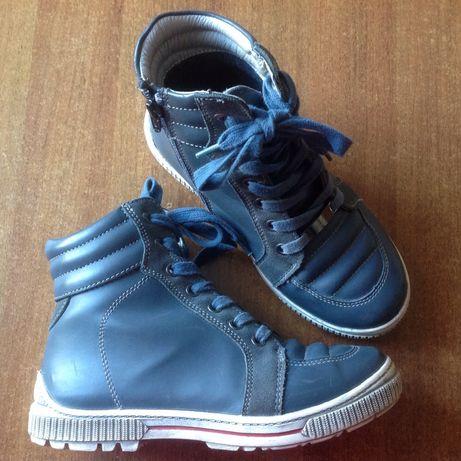 Кожаные утепленные ботинки 35 36 22 - 23 см
