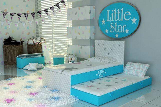 DOSTAWA GRATIS-Łóżko piętrowe dla dziecka,wysuwane,dziewczęce-Wschowa.
