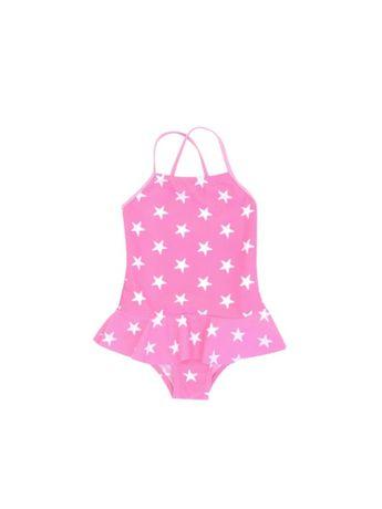 Nowy cudny strój kąpielowy różowy w gwiazdy 116/122