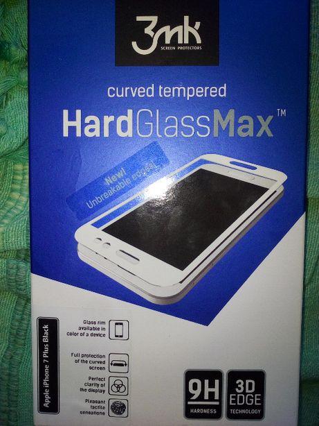 Szkło hartowane. Najtaniej! 3MK Hardglass Max 3D iPhone 7 Plus czarny