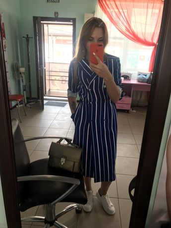 Платье в полоску, платье пиджак