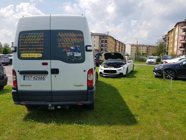 Serwis mobilny mechanik warsztat pomoc drogowa tir ozonowanie biur aut