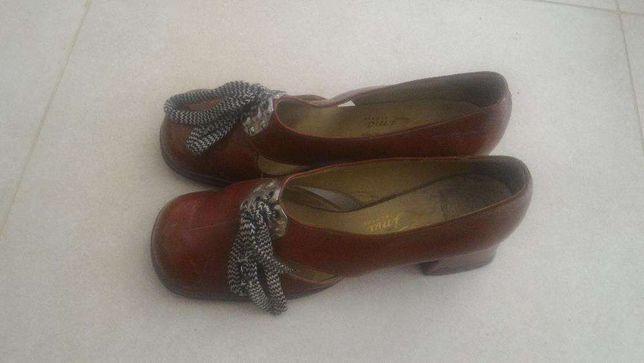 Sapatos salto 38 vermelhos cereja