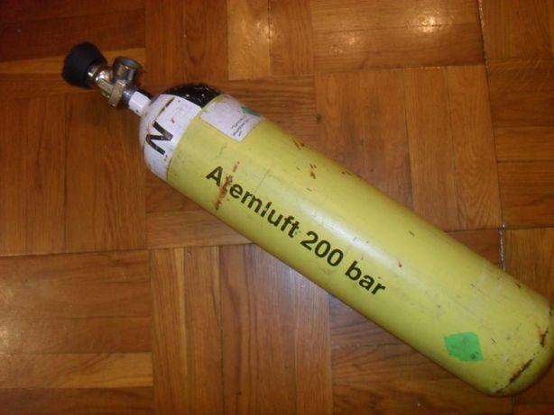 """Баллон 3 литра с вентилем , соединение DIN ( 5/8"""" ) - дайвинг/ пневмат"""